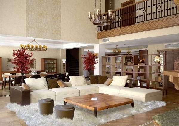 белые ковры в дизайне интерьера, фото 2