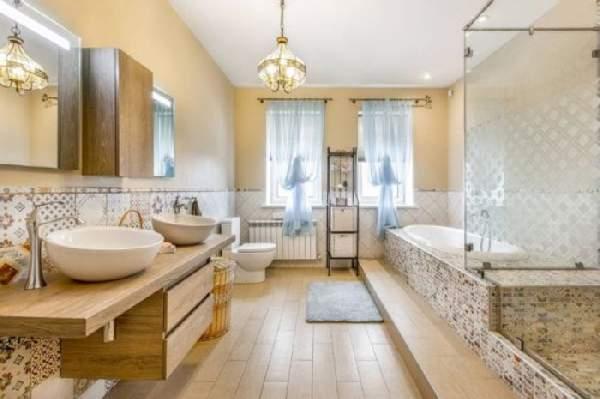 дизайн больших современных ванных комнат, фото 3