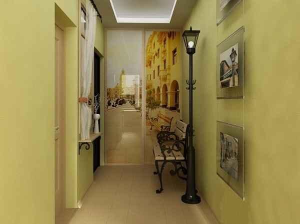 интерьер однокомнатной квартины с балконом, фото 9