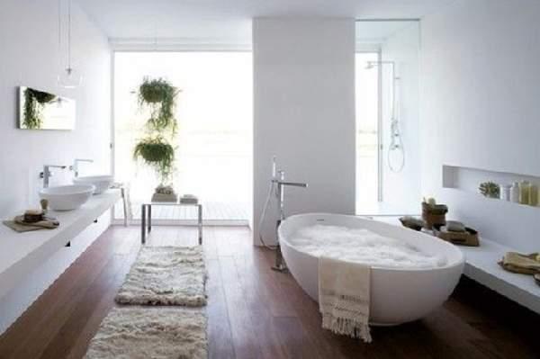дизайн большой ванной комнаты совмещенной с туалетом, фото 5