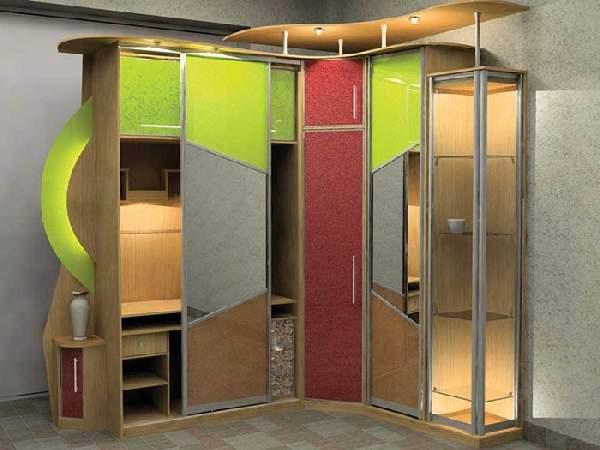 шкаф купе в коридор с боковыми полками, фото 4