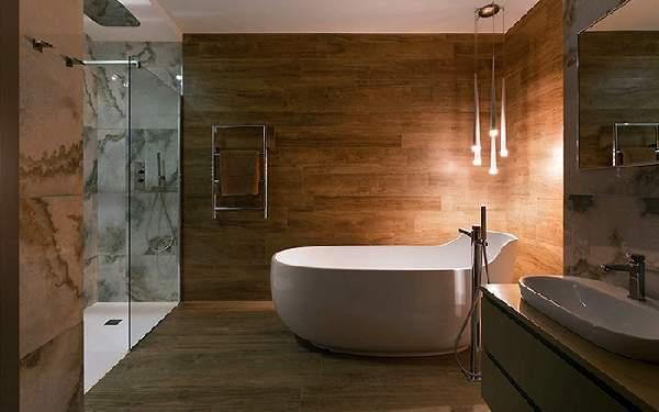 дизайн больших современных ванных комнат, фото 30