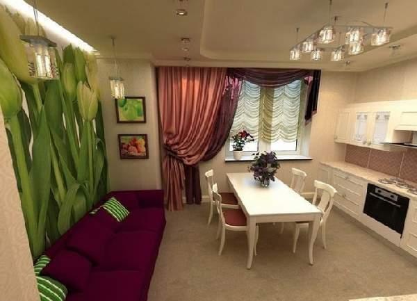 дизайн кухни 10 кв м с диваном, фото 5