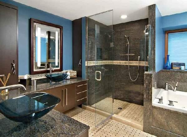дизайн большой ванной комнаты с душевой, фото 8