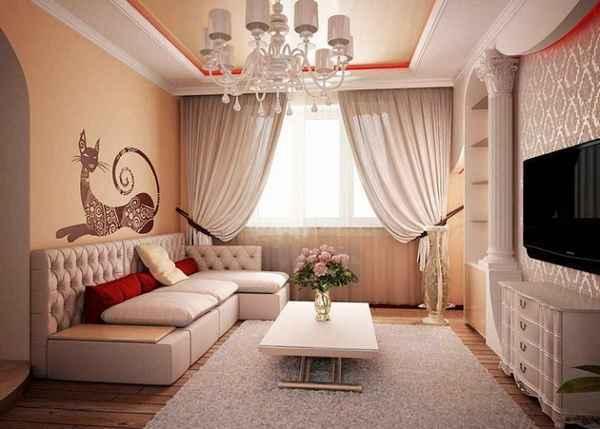 современный интерьер однокомнатной квартиры, фото 20