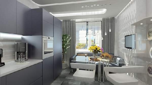 дизайн кухни 8 м с диваном, фото 38