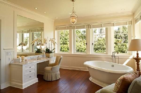 большая ванная комната с окном дизайн фото, фото 33
