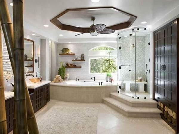 дизайн большой ванной комнаты в частном доме, фото 10