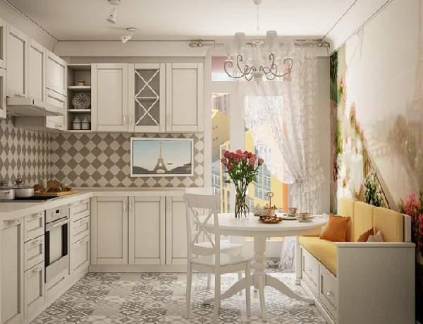 дизайн кухни 13 м с диваном, фото 39