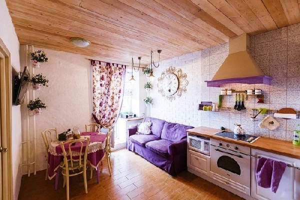 дизайн кухни 12 м с диваном фото, фото 40