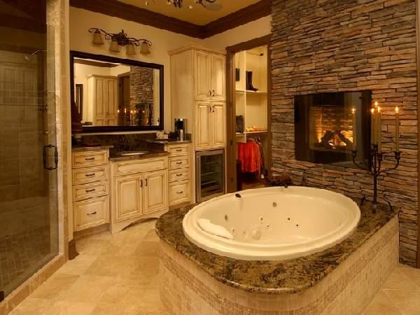 дизайн большой ванной комнаты в частном доме, фото 12
