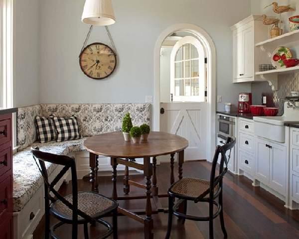 дизайн кухни с угловым диваном фото, фото 15