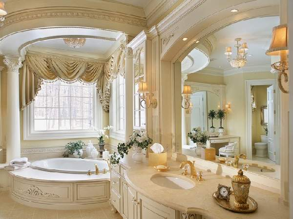 дизайн большой ванной комнаты в частном доме, фото 40
