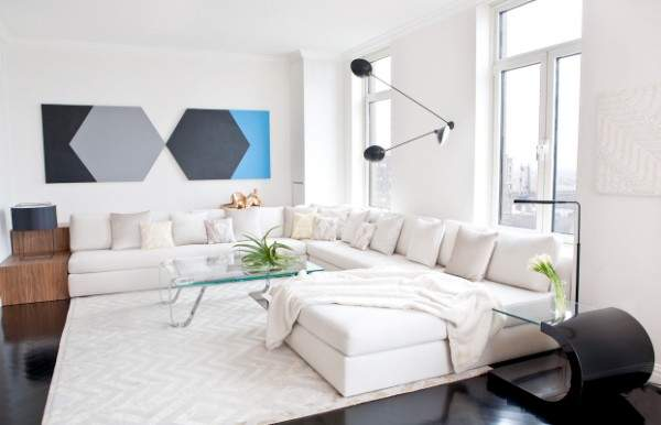 белые ковры на пол, фото 15