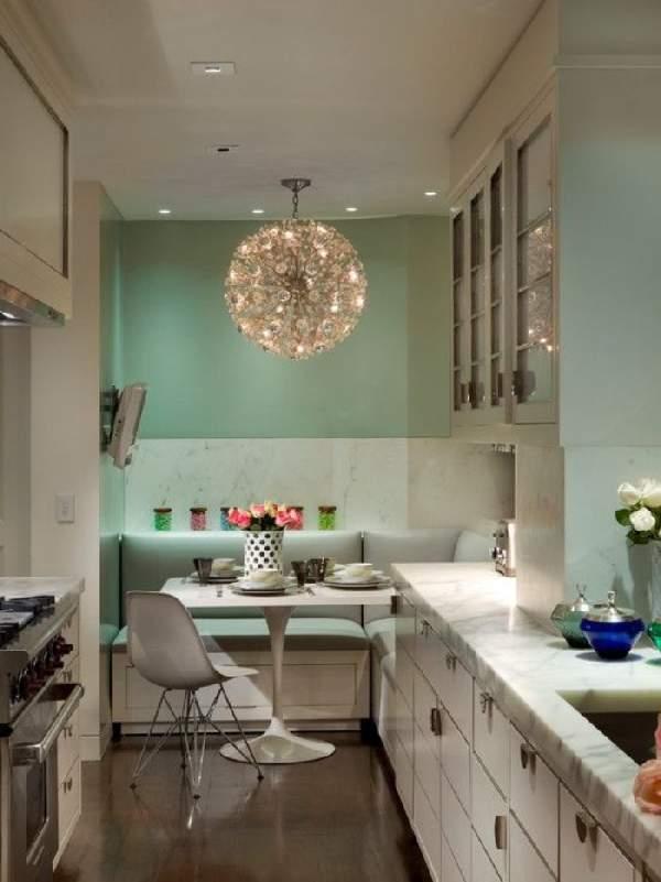 дизайн кухни с угловым диваном фото, фото 17