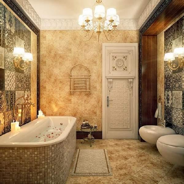 дизайн ванной комнаты большой площади, фото 42