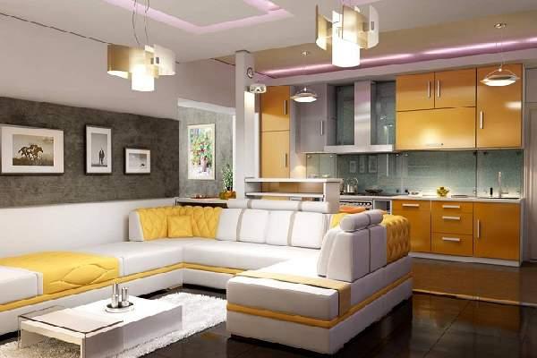 дизайн кухни с угловым диваном, фото 18