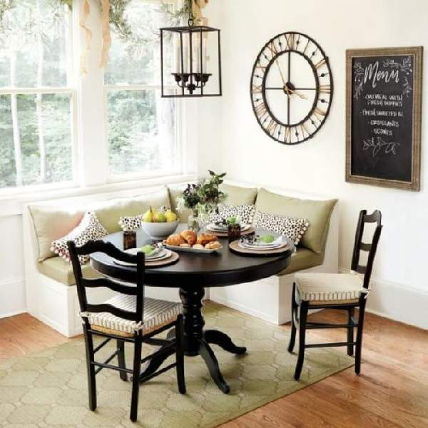 дизайн кухни с угловым диваном фото, фото 19