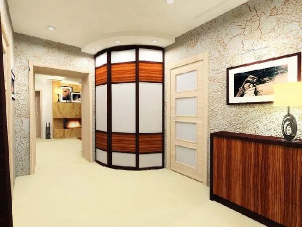 современный шкаф купе в коридоре, фото 30