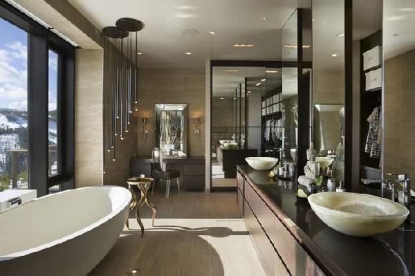дизайн больших современных ванных комнат, фото 44
