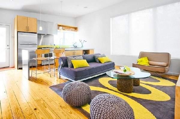 дизайн кухни с диваном фото, фото 7