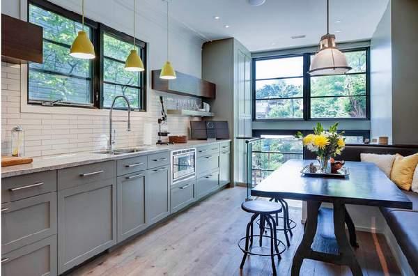 кухня в современном стиле в доме, фото 5