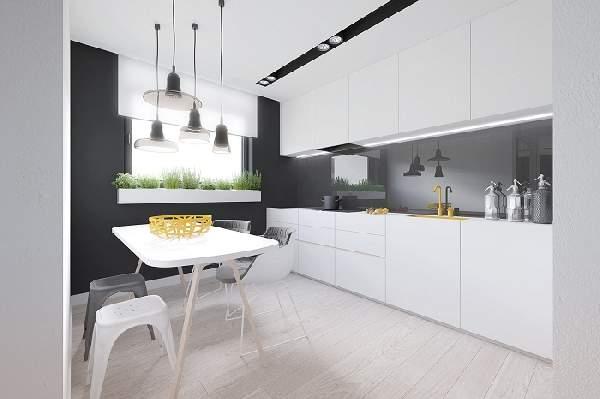 дизайн маленькой кухни с диваном, фото 29