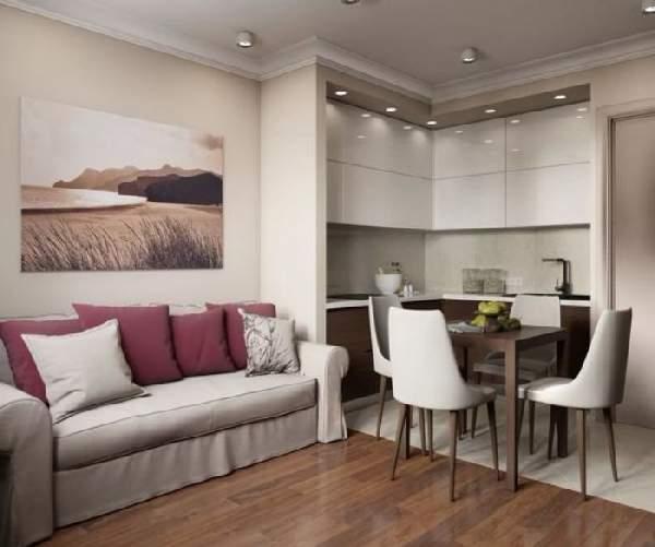 дизайн кухни 15 кв м с диваном, фото 13