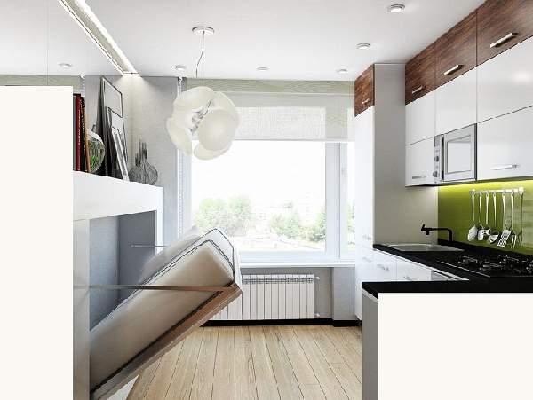 дизайн маленькой кухни с диваном, фото 30