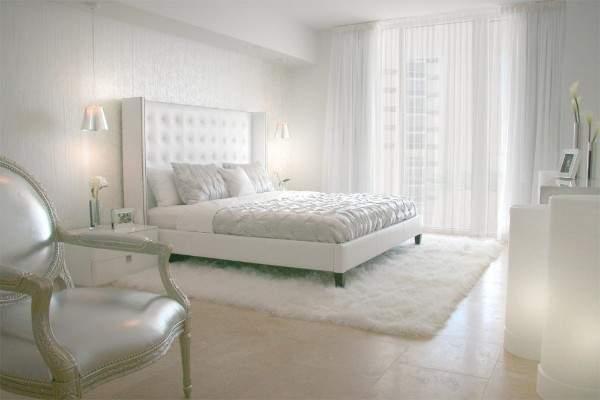 белый пушистый ковер, фото 45