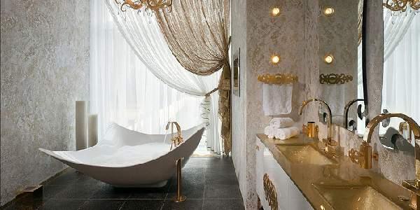дизайн ванной комнаты большой площади, фото 13