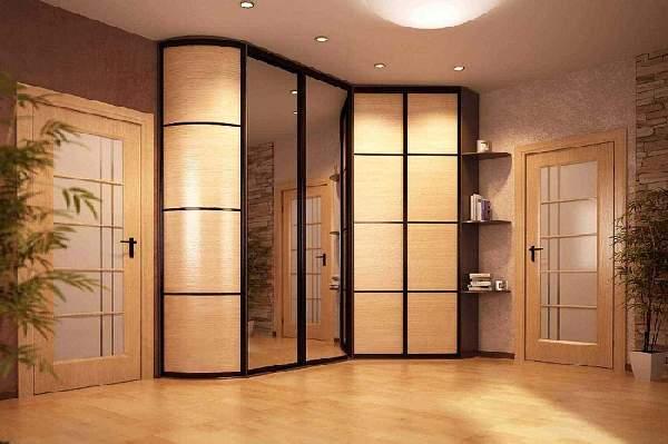 угловые шкафы купе в коридор, фото 25