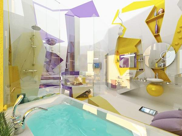дизайн больших современных ванных комнат, фото 15