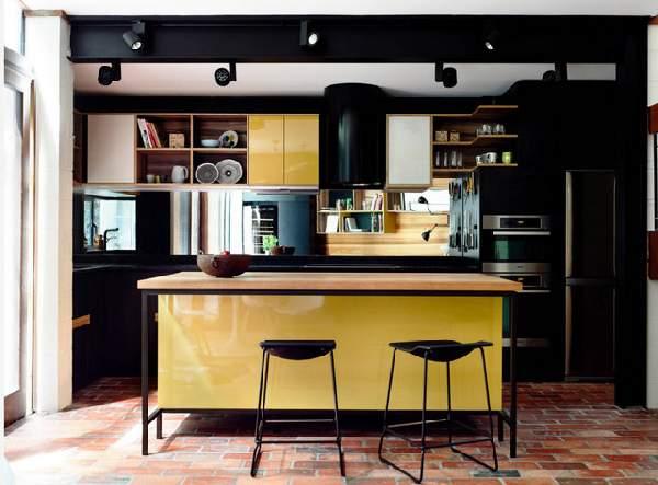 современные кухни с барной стойкой, фото 64
