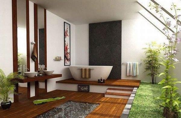 дизайн большой ванной комнаты, фото 16