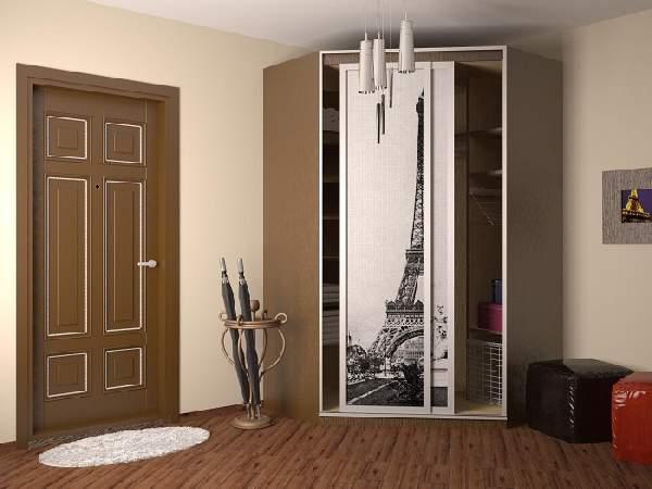 угловые шкафы купе в коридор, фото 27