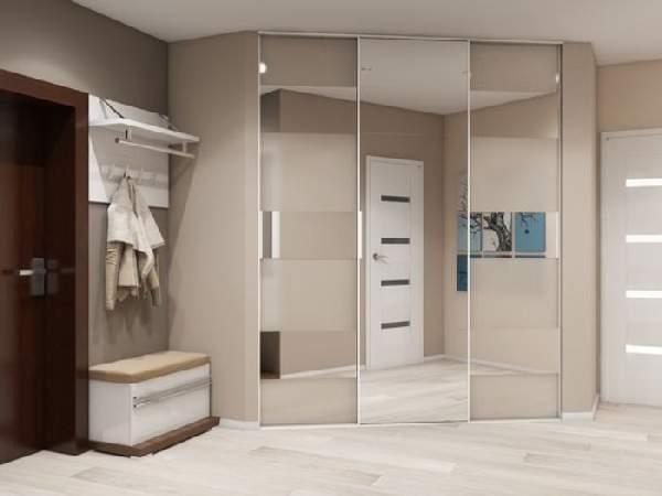 угловые шкафы купе в коридор фото, фото 28
