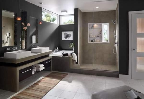 дизайн ванной комнаты большой площади, фото 48