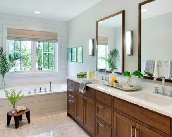 большая ванная комната с окном дизайн фото, фото 35