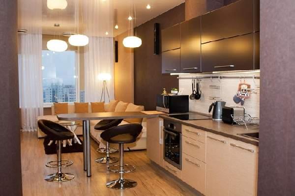 дизайн кухни с диваном 20 кв, фото 8
