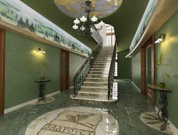дизайн прихожей в частном доме с лестницей, фото 15