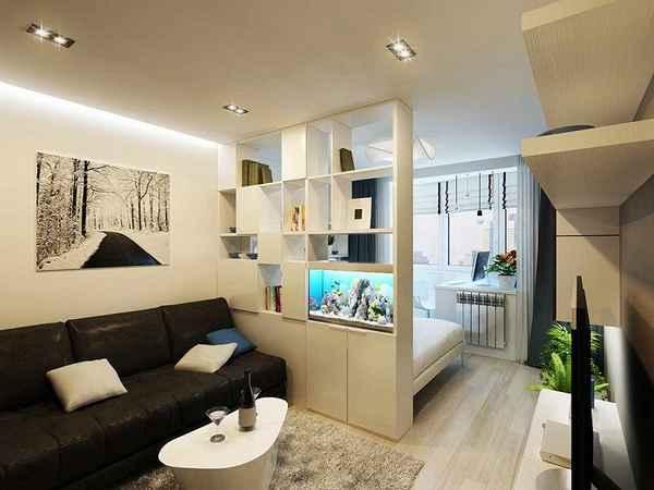 интерьер однокомнатной квартиры, фото 25