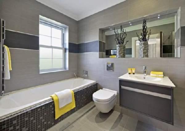 дизайн большой ванной комнаты с окном, фото 50