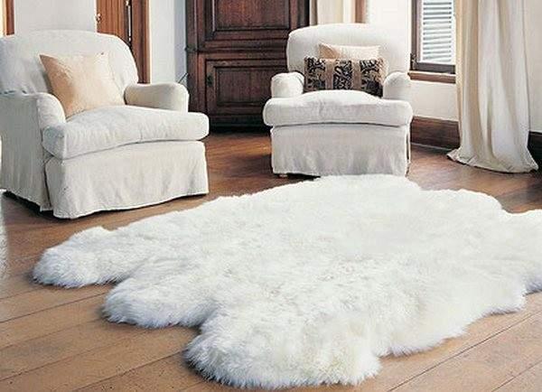 белый пушистый ковер, фото 51