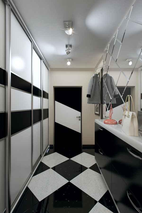 дизайн интерьера прихожей в доме, фото 58