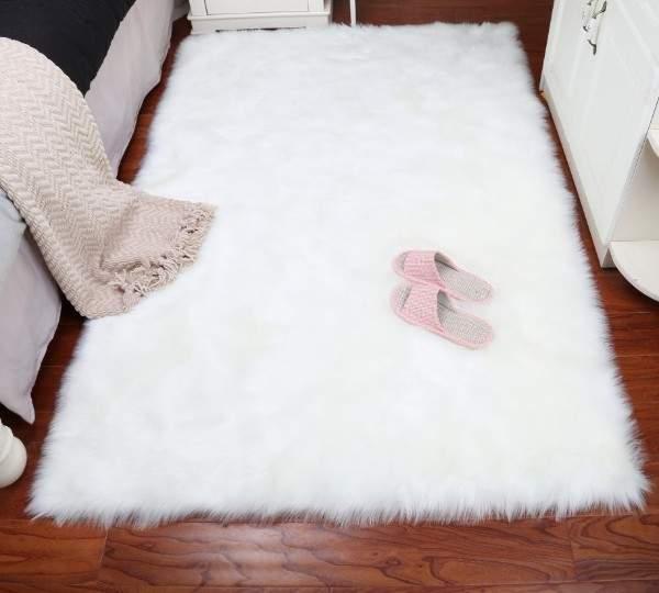 белые ковры с ворсом, фото 57