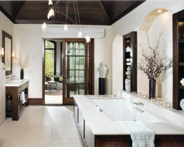 большая ванная комната дизайн фото, фото 36