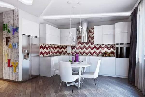 современные кухни с барной стойкой, фото 65