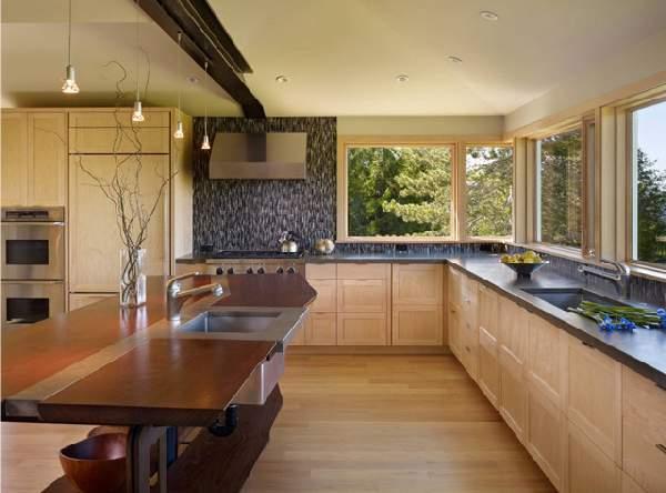 современные кухни с барной стойкой, фото 66