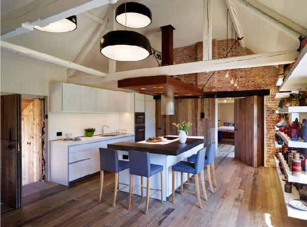 современные кухни с барной стойкой, фото 67